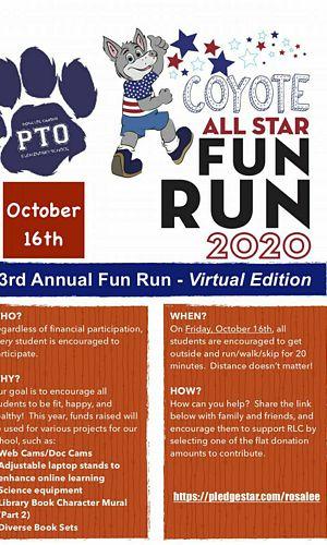 2020 Virtual Coyote Fun Run Flyer